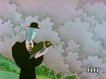 """смотреть Человек и его птица онлайн.  Мультипликационный фильм о нелегкой жизни  """"маленького """" человека в  """"каменных..."""