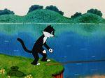 кот рыбак мультик