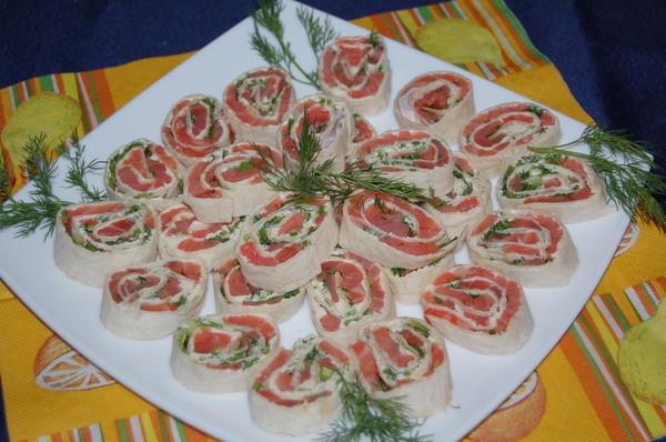 Рецепты рулеты из семги в лаваше