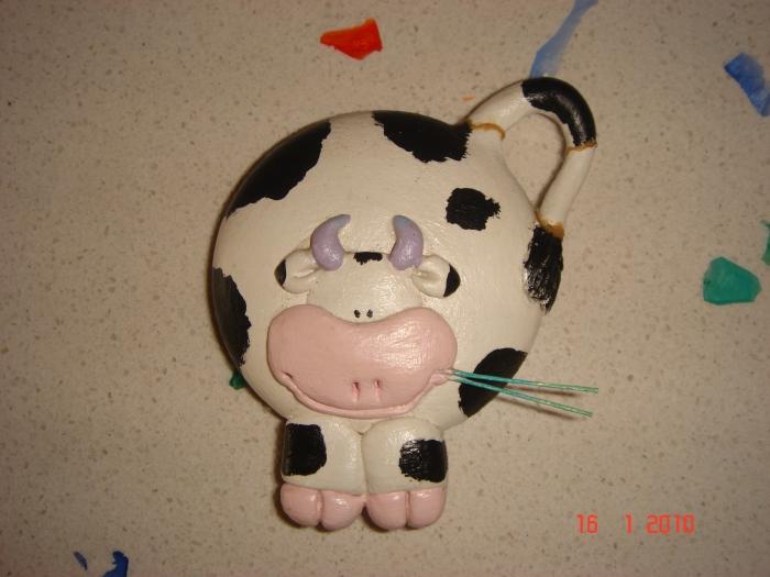 Поделка корова из ткани