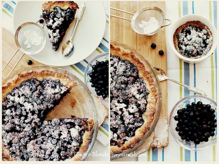Десерты!!!! Пирог с черной смородиной