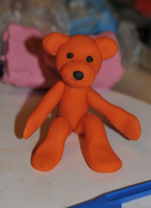 Как из пластилина сделать медвежонка из