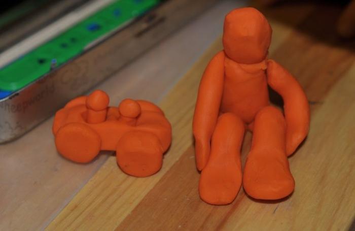 Мальчик из пластилина своими руками