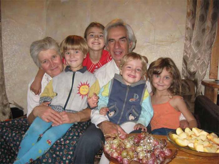 у внучка дедушки гостях в