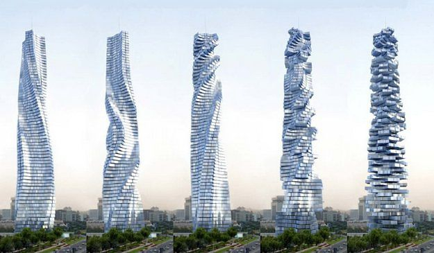 НЕОБЫЧНЫЕ ЗДАНИЯ СО ВСЕГО СВЕТА Dynamic Tower в Дубае
